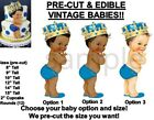 PRE-CUT Caribbean Turquoise Blue Little Prince EDIBLE Cake Topper Image Crown