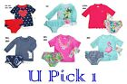 Carters Rash Guard Swimsuit Rashguard Girls Swim Bathing Suit 2 Pc Shirt Bottoms
