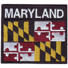 MARYLAND FLAG BADGE EMBROIDERED PATCH