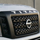 Front Grille TITAN Emblem Vinyl Decals Sticker For NISSAN 2016-2018 Titan XD
