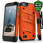 Zizo Bolt ZTE Avid 4 Case with Screen Protector, Kickstand and Holster