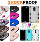for ZTE ZMax Pro Grand Blade TUFF HYBRID Armor Rubber Rugged Case Cover +Disc