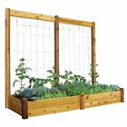 Gronomics 34L x 95W x 13H in. Raised Garden Bed with Trellis Kit