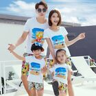 Summer Family Matching Outfits Family Beach Causal Traveling Clothing Sets
