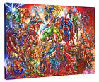 Marvel DC Heroes HD Canvas Art Print (FRAMED) Fast Shipping Comics Wall Decor
