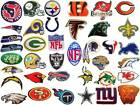 New NFL, National Football league team logo patches. Embroidered iron on patch. $2.90 USD on eBay