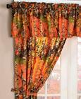 Curtain Set 5 Pc Camouflage Rustic Lodge Cabin Pink Orange Green The Woods NEW