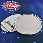Shiny Chrome Blank Oval Belt Buckle-Add Your Own Design-Choose: 1x or 2x Buckles