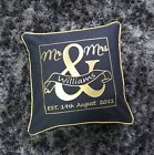 Mr and Mrs Mr & Mrs Cushion Cover Gift Personalised Anniversary Wedding Pillow