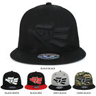 Hecho EN Mexico Eagle 3D Embroidered Fitted Flatbill Snapback Cap - FREE SHIP
