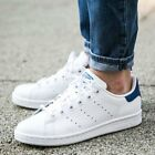 Youth / Womens Adidas Stan Smith Classic Sneakers New, White / Navy Blue S74778