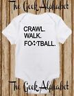 Crawl Walk Football Footie One piece Baby Clothes Boy Shirt Baby Girl Infant
