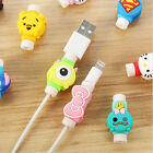 Cute Cartoon USB Data Charger Cable headphones line Saver Protector For iPhone