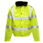 Hi Vis - Yellow Storm Bomber  Jacket Lined, waterproof, limited sizes
