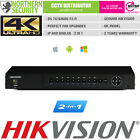 2in1 HIKVISION 16CH/32CH HYBRID 4K P2P IP CAMERA NVR & ANALOG D1 BNC DVR UPGRADE