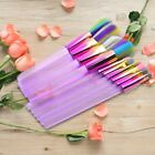 10pcs Makeup Brushes Rainbow Spectrum Soft Hair Beauty Cosmetic Tools Set New