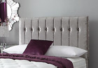 Regent High winged headboard crushed velvet Bed Single, Double, King, Superking