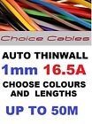 1.0mm 12v 24v Automotive Thinwall Cable Auto Car Campervan Boat Wire 100 Colours