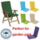 Highback Garden Dining Chair Cushion Pad Outdoor Furniture High Back Recliner MR