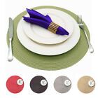 Jacquard Weaved Round Non Slip Placemats Dining Table Mats Circular Lunch Dinner