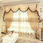 Luxury velvet Waterfall  Valance curtains with triple valance track