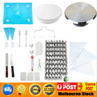 28cm Cake Turntable Rotating Decorating & 24 52 Pcs Flower Icing Piping Nozzles