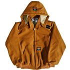 Brand New! Rasco Fire Resistant Duck Quilted Hooded Jacket in Brown Black & Navy