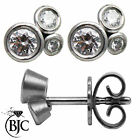 BJC® 18ct White Gold Round Brilliant Cut Diamond Stud 0.44ct Earrings Studs ER49