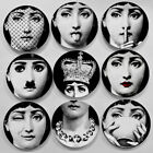 Piero Fornasetti Plates Pure Color Black&white Illustration Hanging Dishes 8""