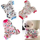 Small Pet Dog Pajamas Clothes Jumpsuit Shirt Patterns Cozy Cat Sleepwear XS-XXL