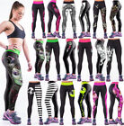 Sports Pants Leggings Sexy Design Print Womens YOGA Workout Gym Fitness Stretchy