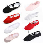Внешний вид - Size 24-44 Children Adult Canvas Split Sole Ballet Dance Shoes Pointe Slippers