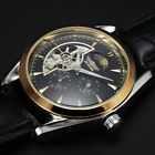 Half Skeleton Design Automatic Mechanical Mens Watches Top Luxury Brand Relojes