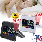 Projection Digital Weather LCD Snooze Alarm Clock Display w/ LED Backlight US MX