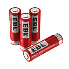 EBL 14500 3.7V 800mAh Li-ion Rechargeable Batteries & Charger for Flashlight