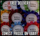 Rosettes x 20 Well Done Please Choose Colour Pack From List CRAZY PRICE!!!!!