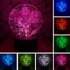2018 Movie Star Wars Death Star 3D LED Night Light RGB LED Fans Xmas Toys Gifts $12.73 USD