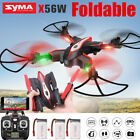 Syma X56W 2.4Ghz Foldable Drone HD Camera WIFI FPV RC Quadcopter Extra Batteries