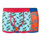 Red Herring Men Pack Of Two Car And Plane Print Keyhole Trunks