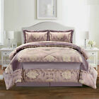 Luxury 3 Piece Quilted jacquard Bedspread Throw With 2 Pillow Shams All Sizes <br/> Double / King / Super King / FREE UK Mainland Delivery