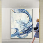 Handmade Abstract Canvas Oil Painting Blue Landscape 633