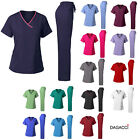 Dagacci Medical Uniform Women's Scrub Set Stretch Contrast B
