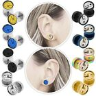 Fakeplugs Earring Ear Piercing Fake Tunnel Plug Can Tin10mm Steel Taper Expander