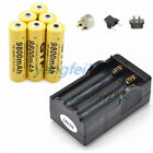 GTF 18650 3.7V 9800mAh Rechargeable Li-ion Battery For Flashlight Torch+Charger