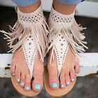 Womens Bohemia Sandles Flip Flops Thongs Flats Strappy Summer Beach Casual Shoes