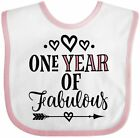 birthday gift for one year old girl - Inktastic 1st Birthday Girls Fabulous Baby Bib One 1 Year Old First Childs Gift