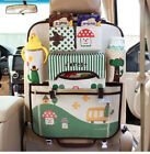 Multi-pocket Car Seat Protector Organizer Storage iPad Kick Back Mat Kid Cup Bag