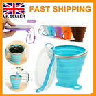 Collapsible Silicone Coffee Cup Reusable Travel Foldable Leak Proof 270ml Mug UK