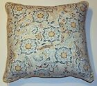 Spa and Taupe Print Pillow