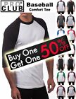 Pro Club Men's 3/4 Sleeve Crew Neck Baseball Comfort Tee Shirt